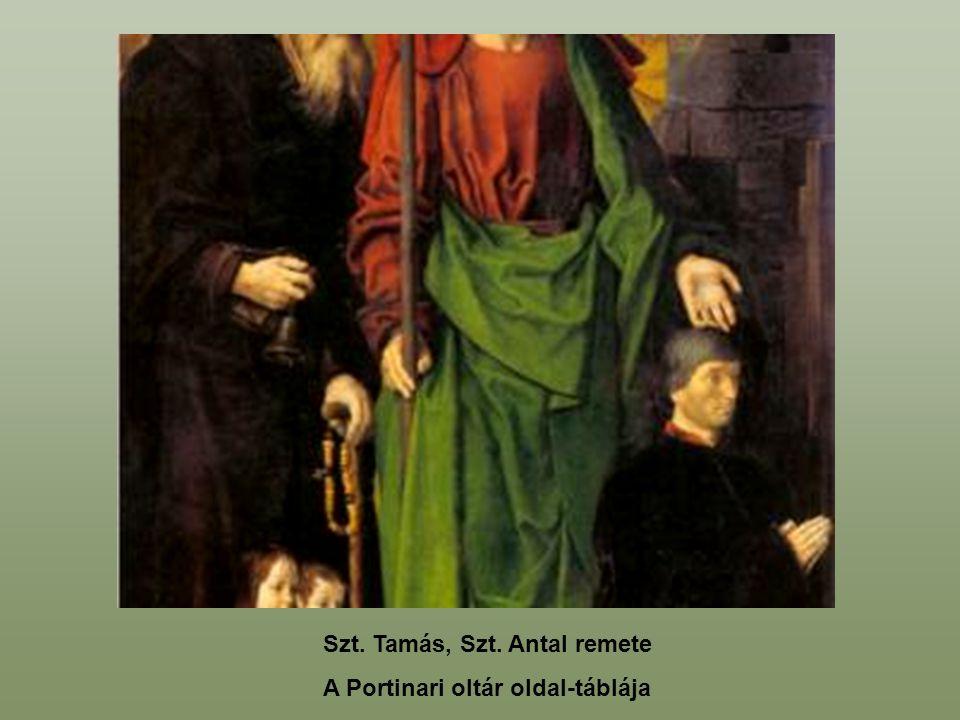 Szt. Tamás, Szt. Antal remete A Portinari oltár oldal-táblája