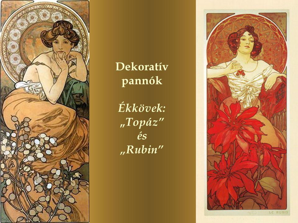 """Dekoratív pannók Ékkövek: """"Topáz és """"Rubin"""