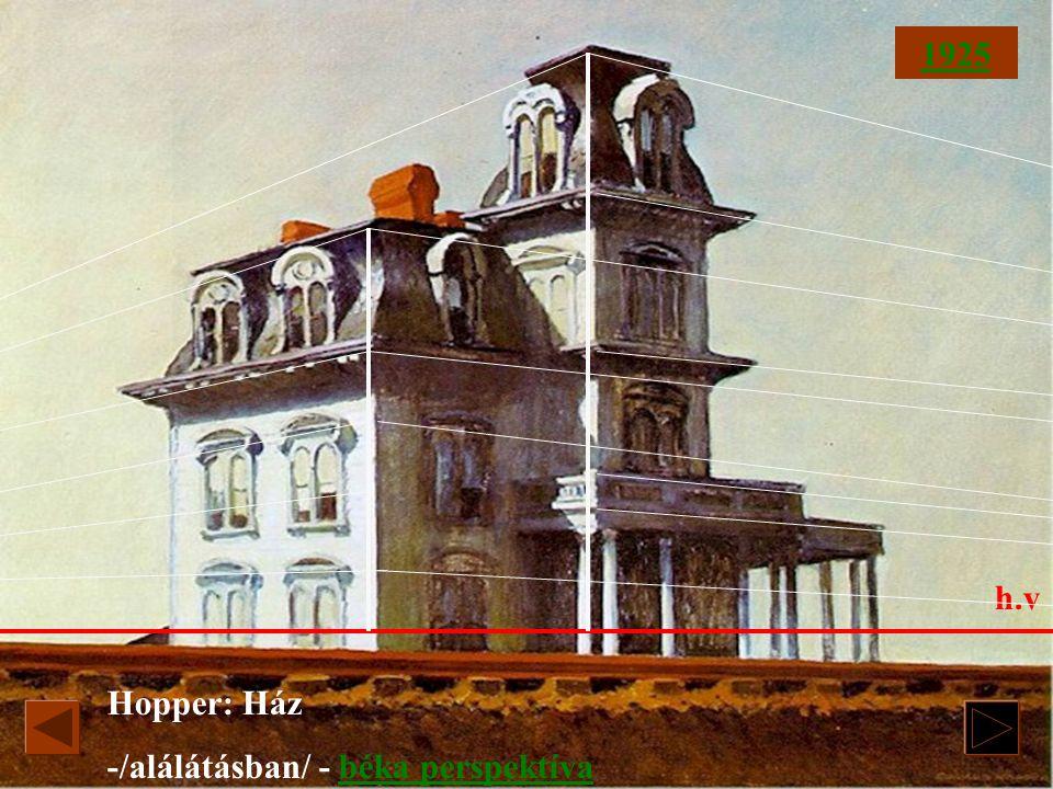 1925 h.v Hopper: Ház -/alálátásban/ - béka perspektíva