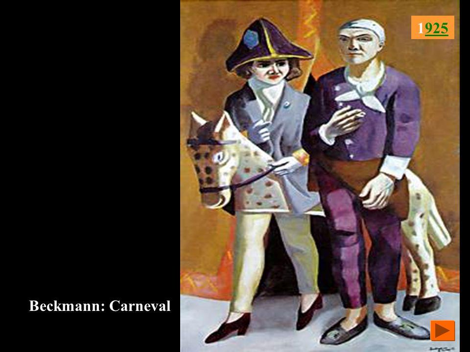 1925 Beckmann: Carneval