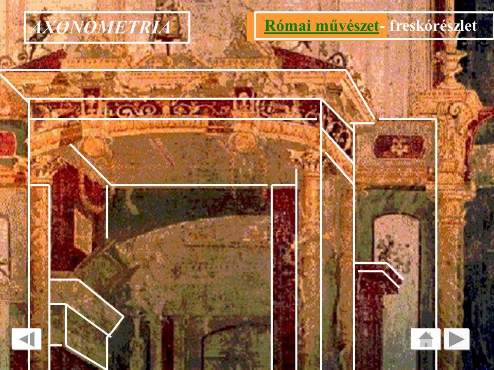 AXONOMETRIA Római művészet- freskórészlet