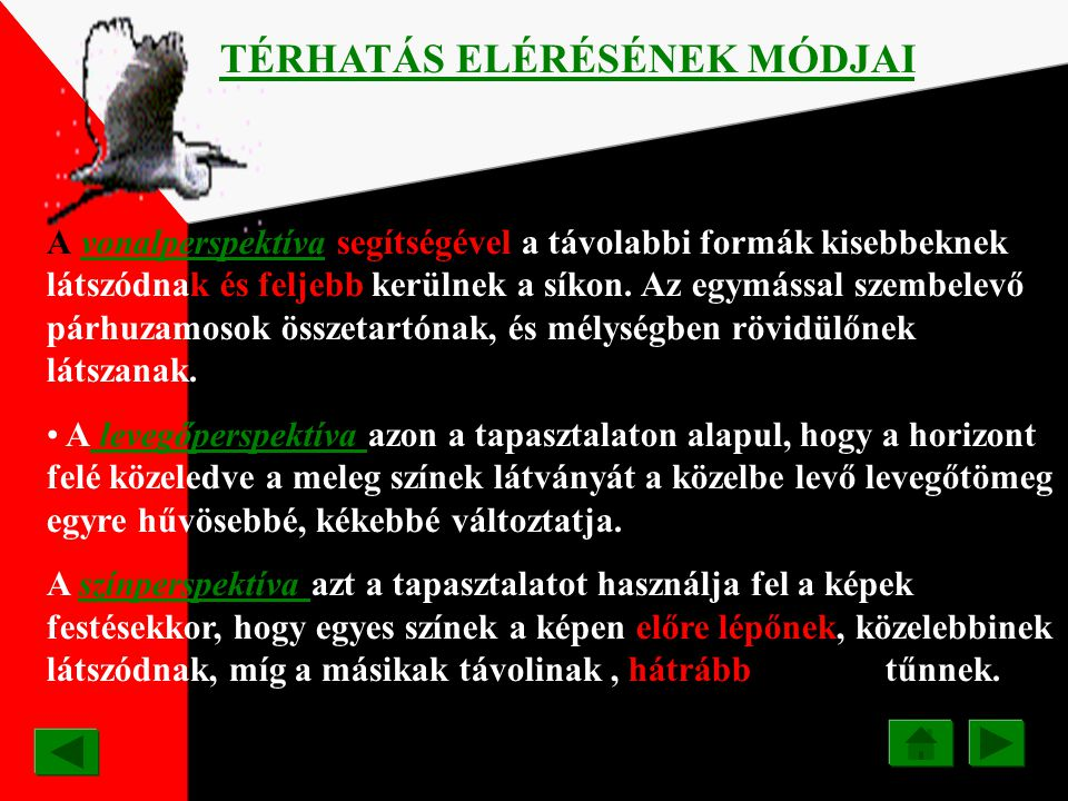 TÉRHATÁS ELÉRÉSÉNEK MÓDJAI