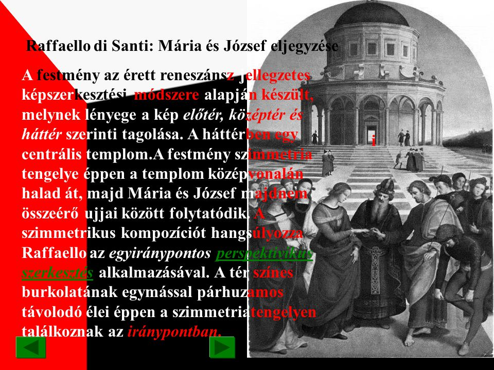 Raffaello di Santi: Mária és József eljegyzése