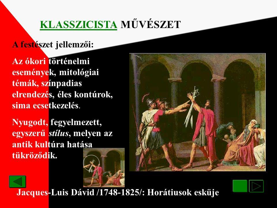 KLASSZICISTA MŰVÉSZET