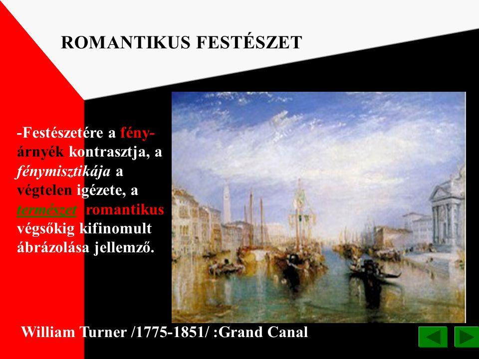 ROMANTIKUS FESTÉSZET