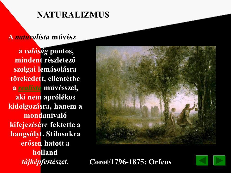 NATURALIZMUS A naturalista művész