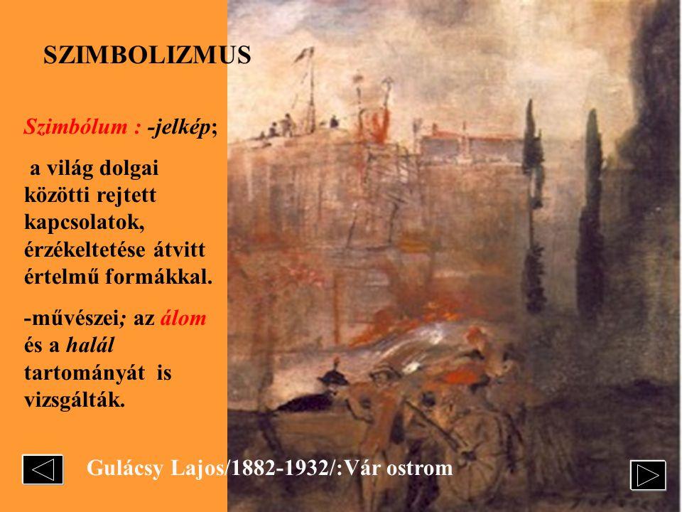 Gulácsy Lajos/1882-1932/:Vár ostrom