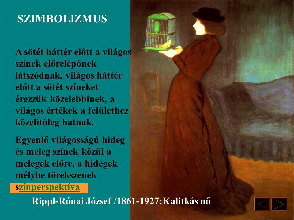 Rippl-Rónai József /1861-1927:Kalitkás nő