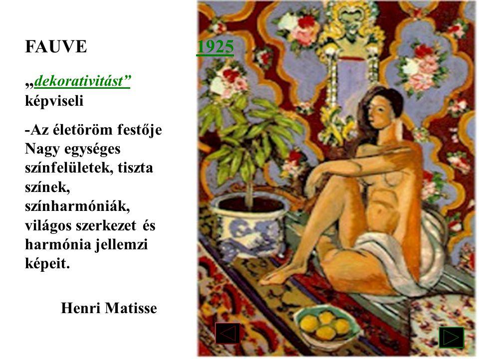"""""""dekorativitást képviseli 1925"""