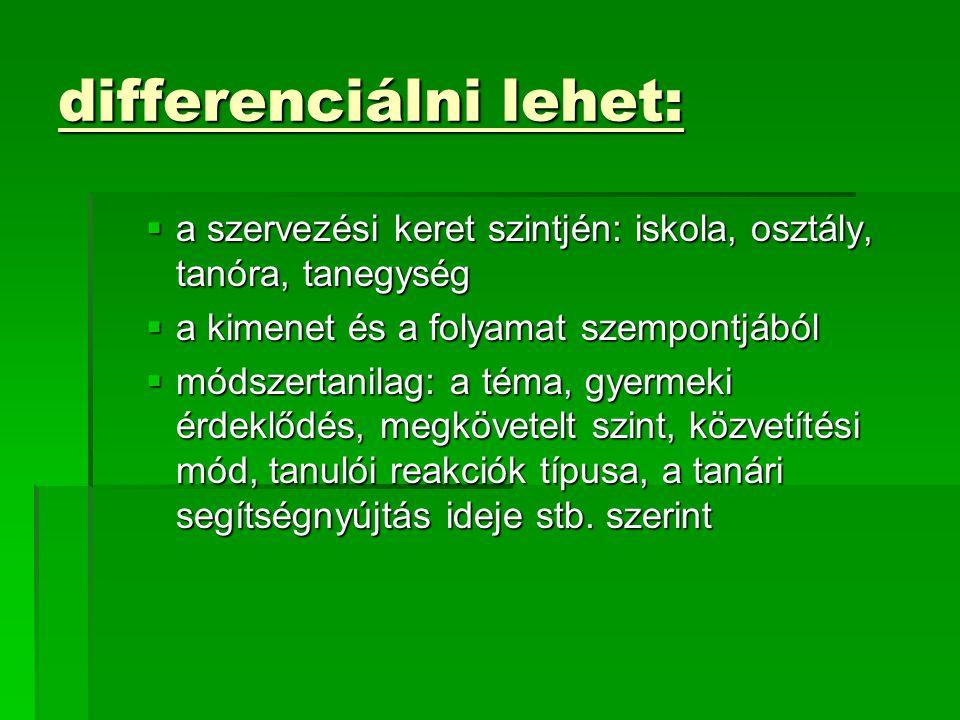 differenciálni lehet: