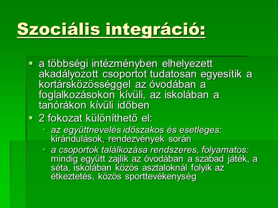 Szociális integráció: