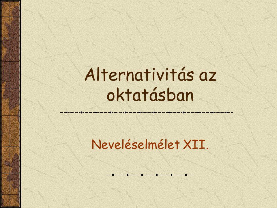 Alternativitás az oktatásban