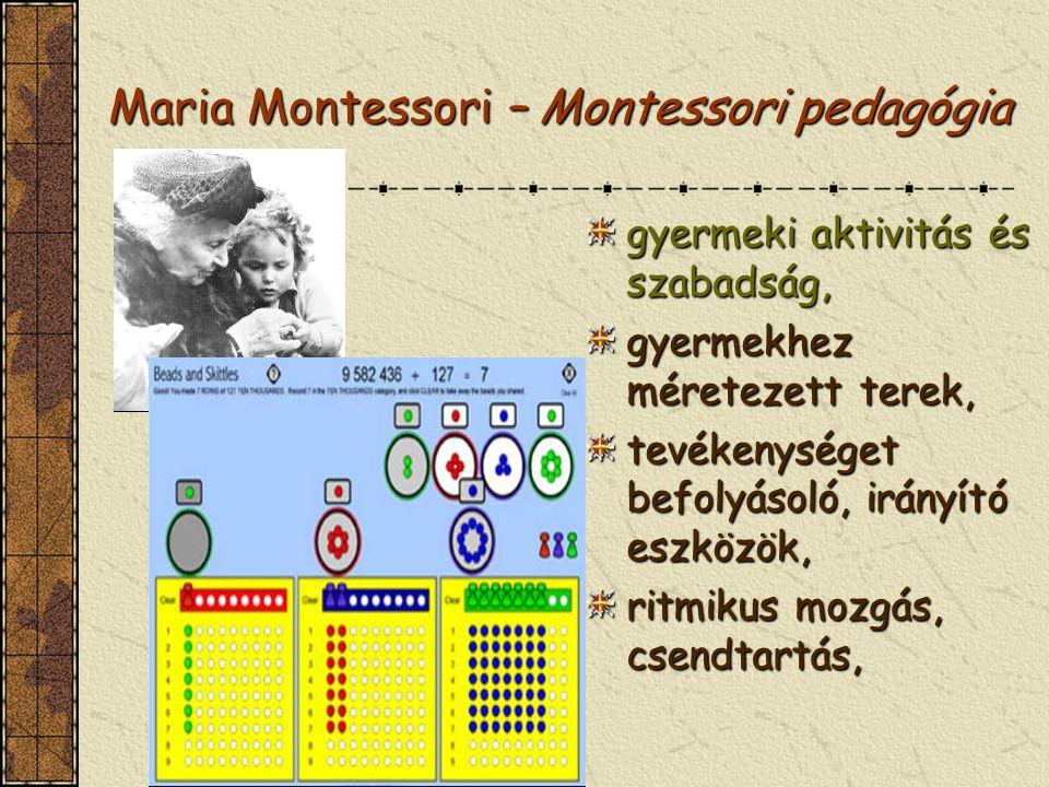 Maria Montessori – Montessori pedagógia