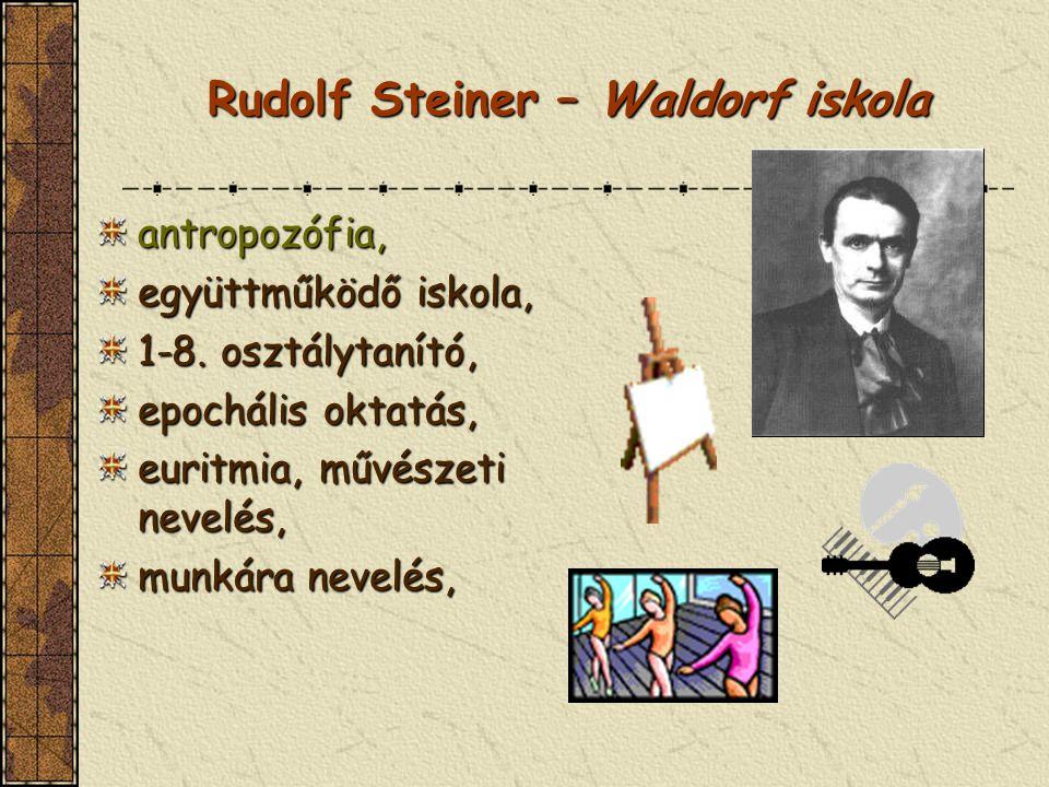Rudolf Steiner – Waldorf iskola