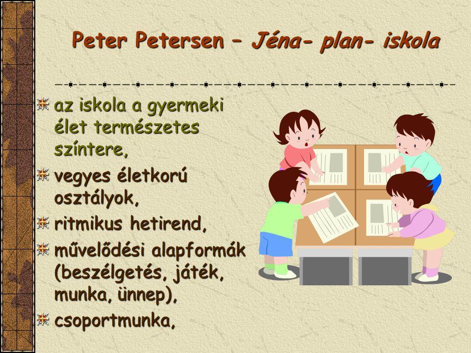 Peter Petersen – Jéna- plan- iskola