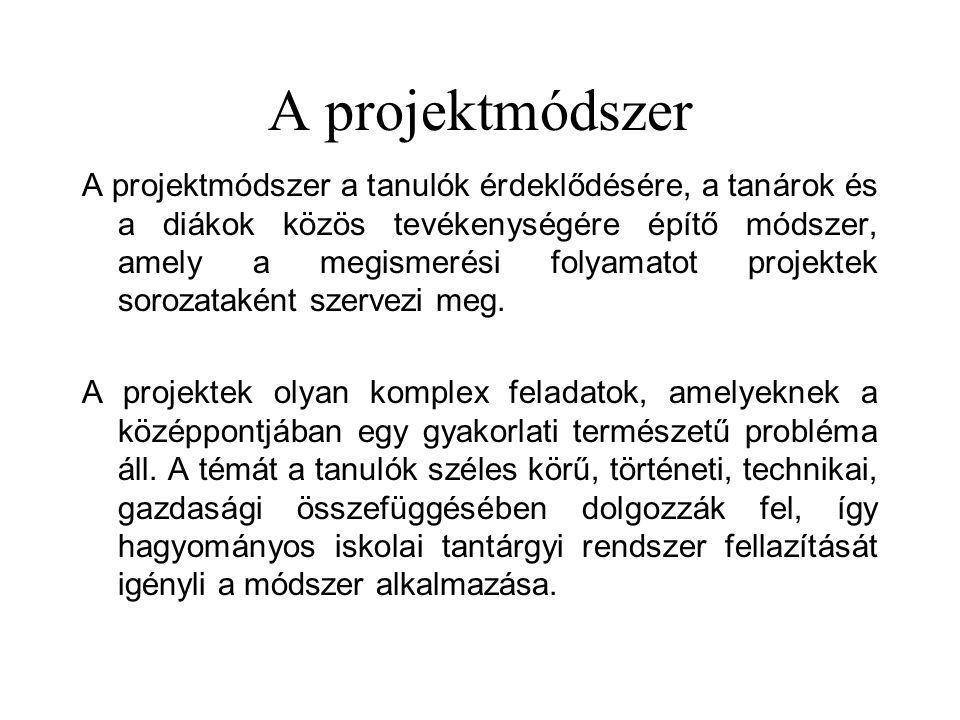 A projektmódszer