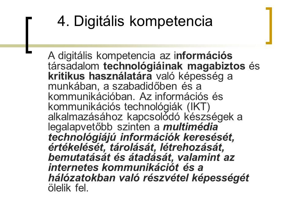 4. Digitális kompetencia