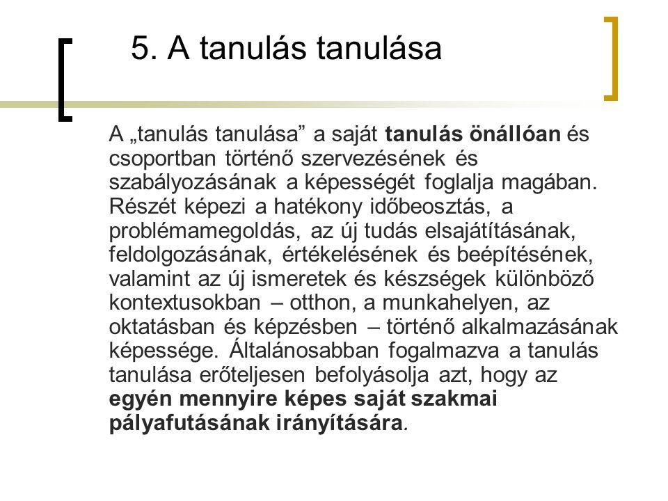 5. A tanulás tanulása