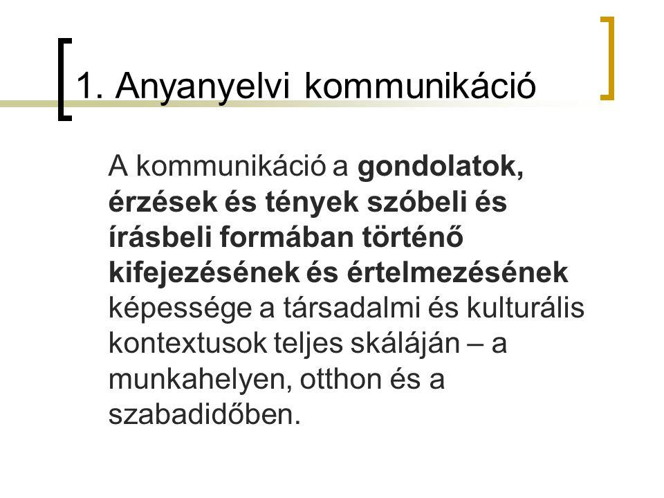 1. Anyanyelvi kommunikáció