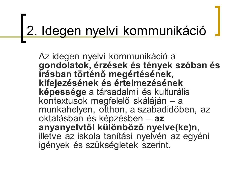 2. Idegen nyelvi kommunikáció