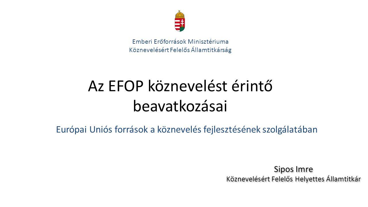 Az EFOP köznevelést érintő beavatkozásai
