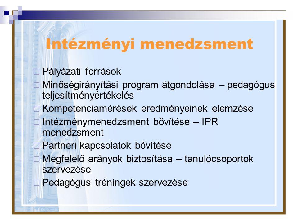Intézményi menedzsment