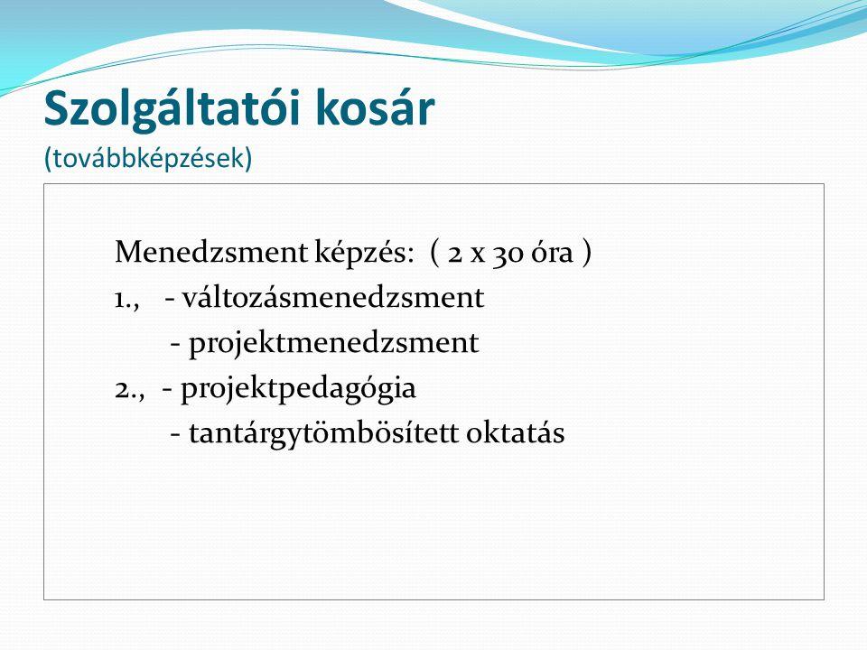 Szolgáltatói kosár (továbbképzések)