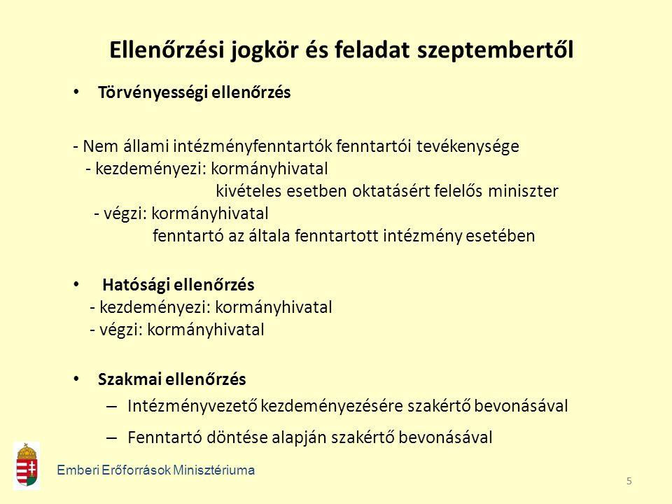 Ellenőrzési jogkör és feladat szeptembertől