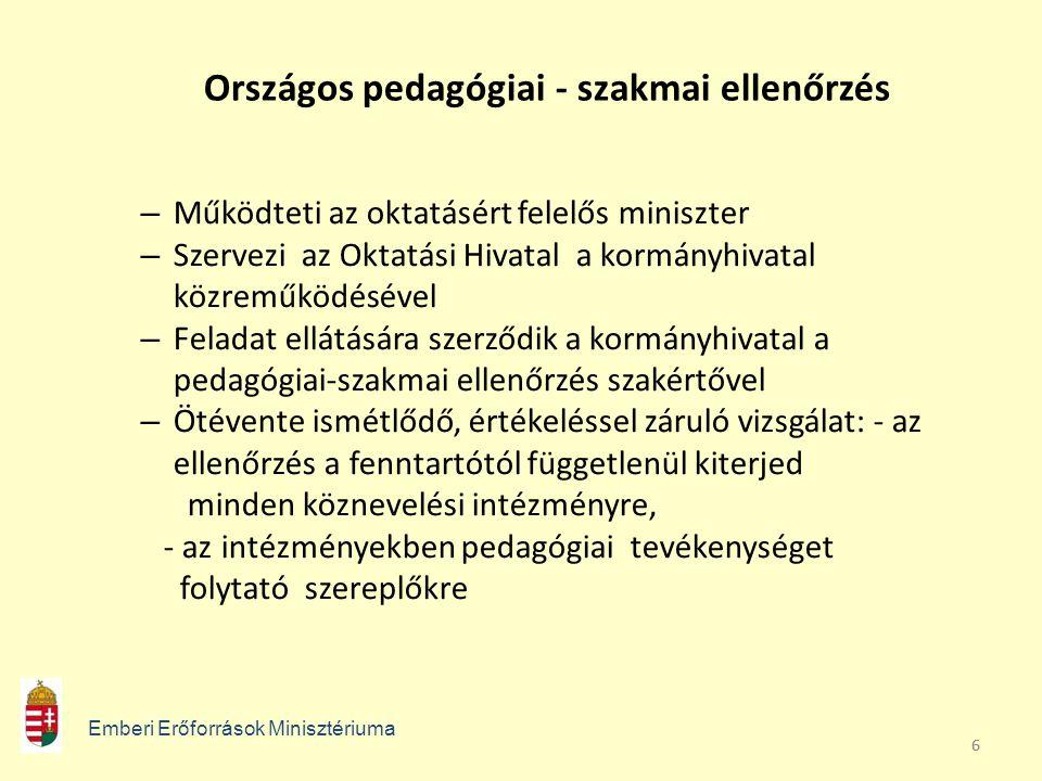 Országos pedagógiai - szakmai ellenőrzés