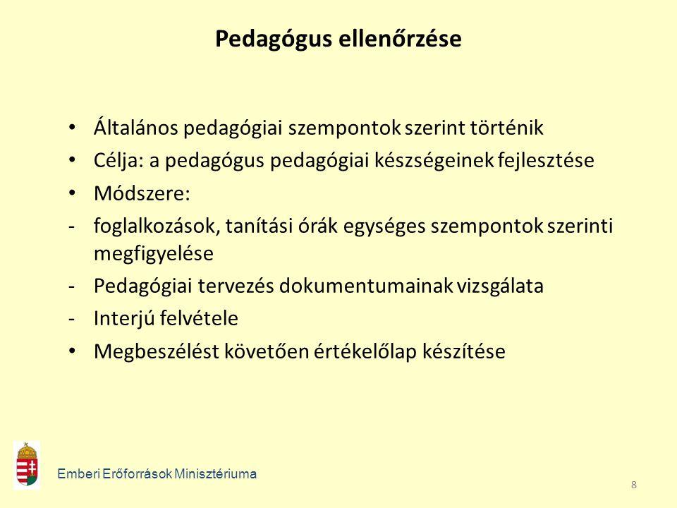 Pedagógus ellenőrzése
