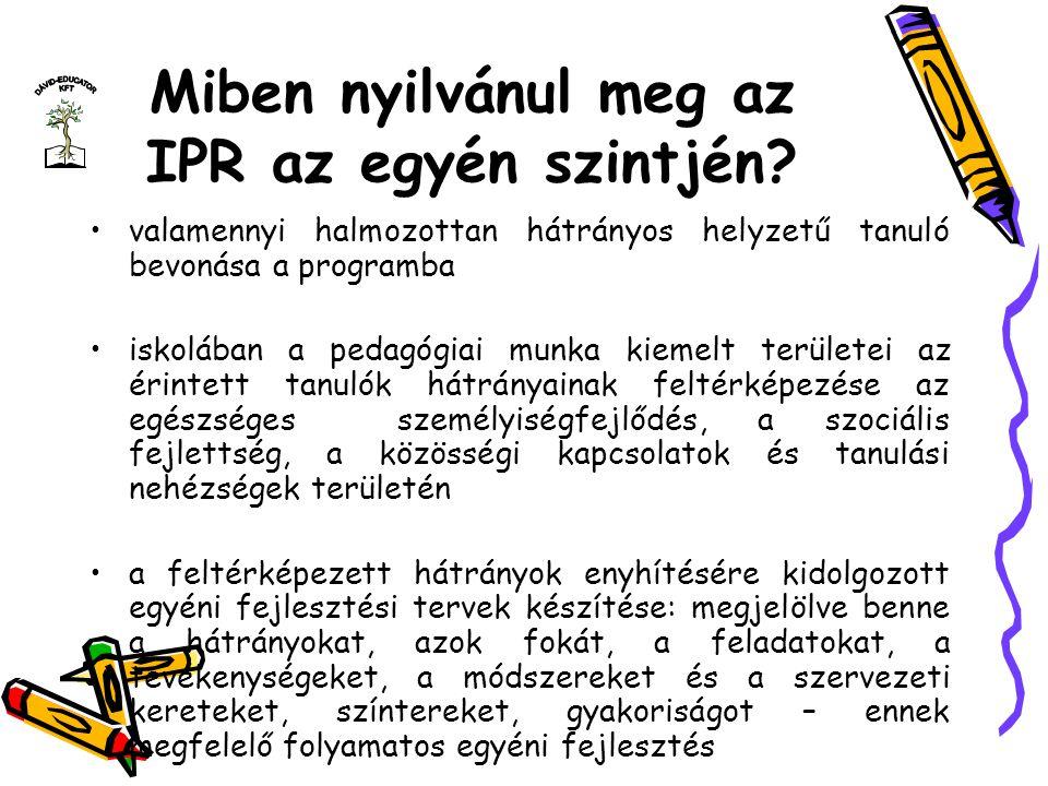 Miben nyilvánul meg az IPR az egyén szintjén