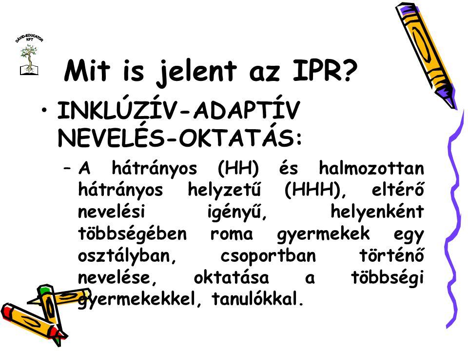 Mit is jelent az IPR INKLÚZÍV-ADAPTÍV NEVELÉS-OKTATÁS: