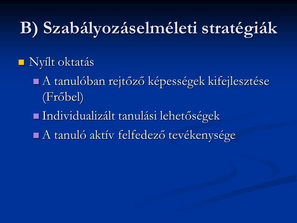 B) Szabályozáselméleti stratégiák