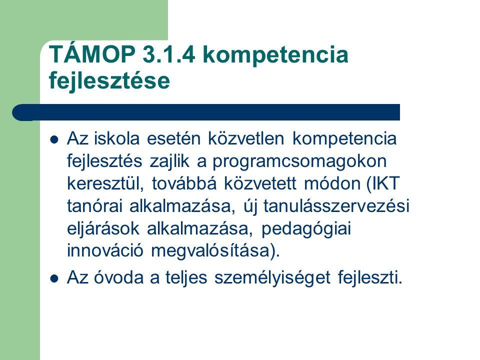 TÁMOP 3.1.4 kompetencia fejlesztése
