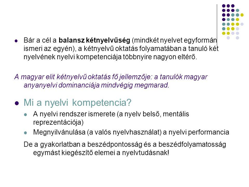 Mi a nyelvi kompetencia