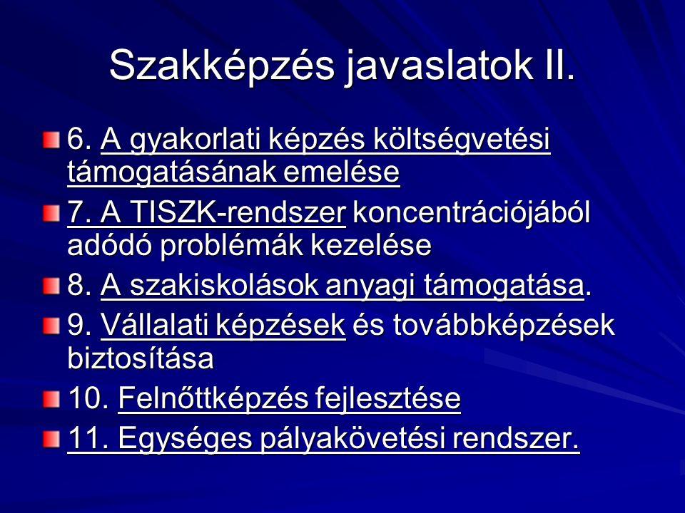 Szakképzés javaslatok II.