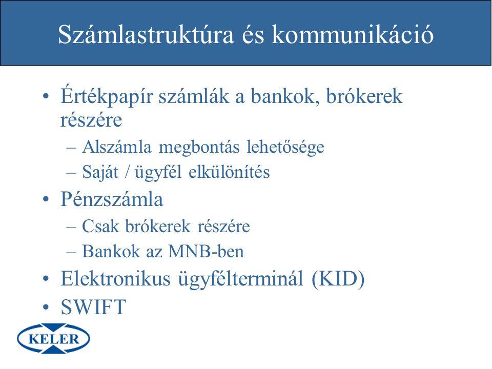 Számlastruktúra és kommunikáció