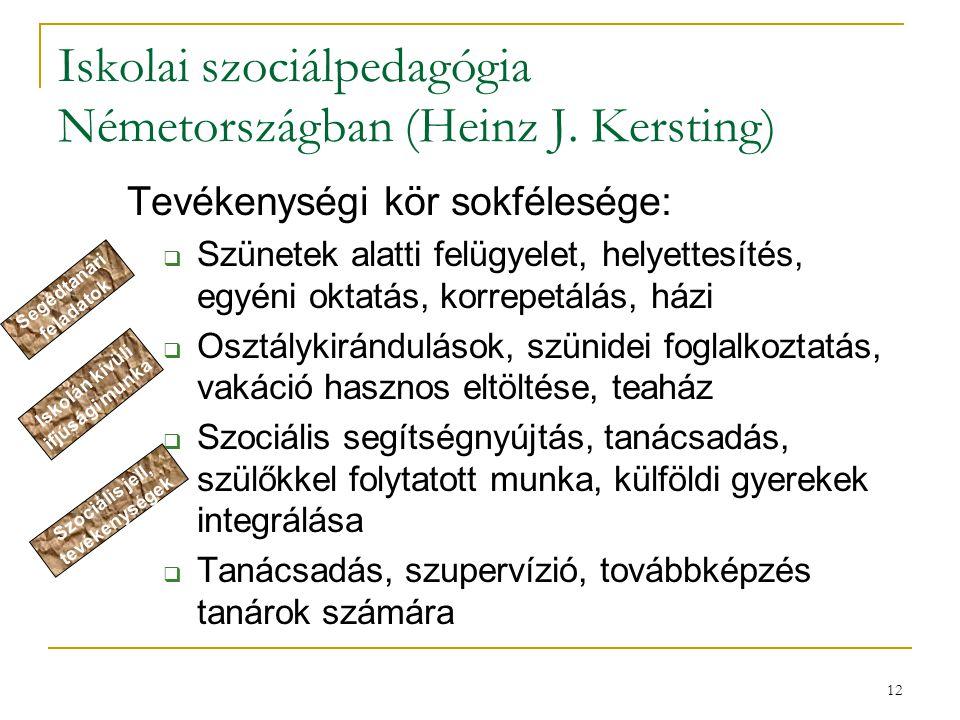 Iskolai szociálpedagógia Németországban (Heinz J. Kersting)