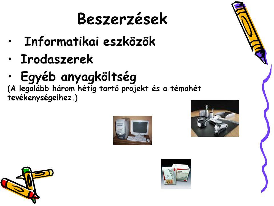 Beszerzések Informatikai eszközök Irodaszerek