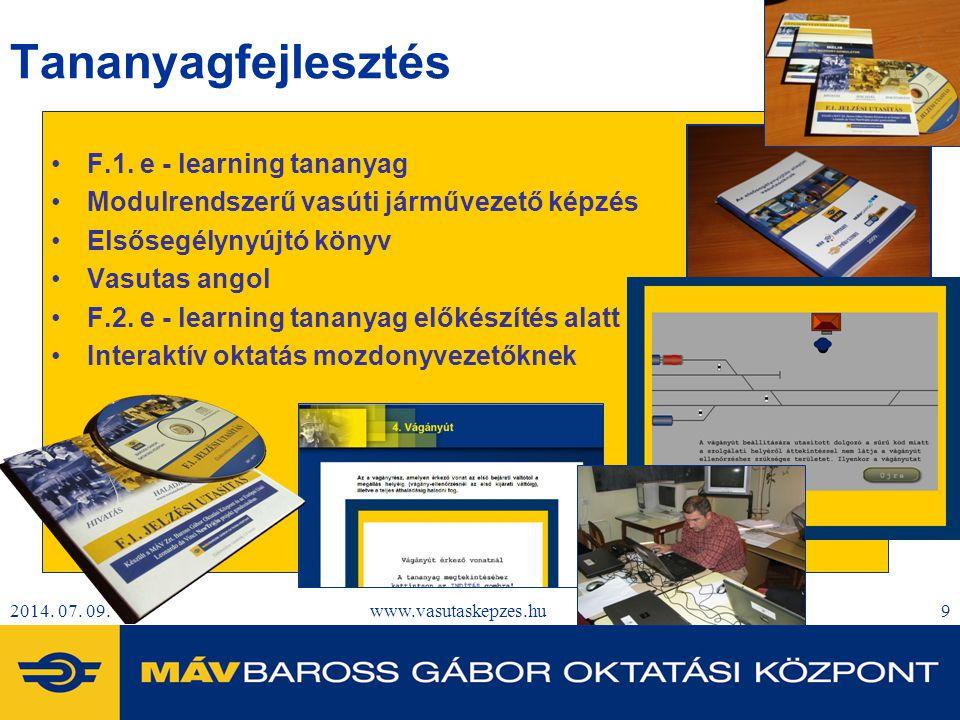 Tananyagfejlesztés F.1. e - learning tananyag