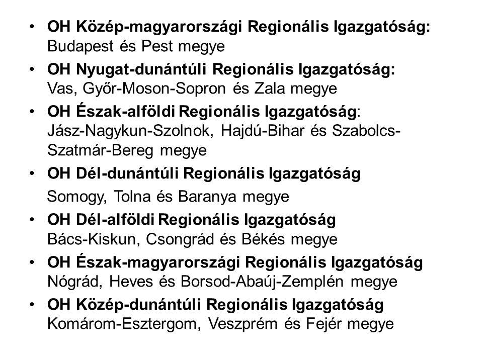 OH Közép-magyarországi Regionális Igazgatóság: Budapest és Pest megye