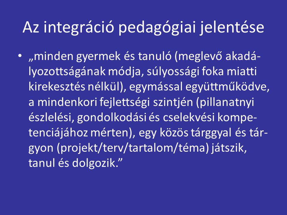 Az integráció pedagógiai jelentése