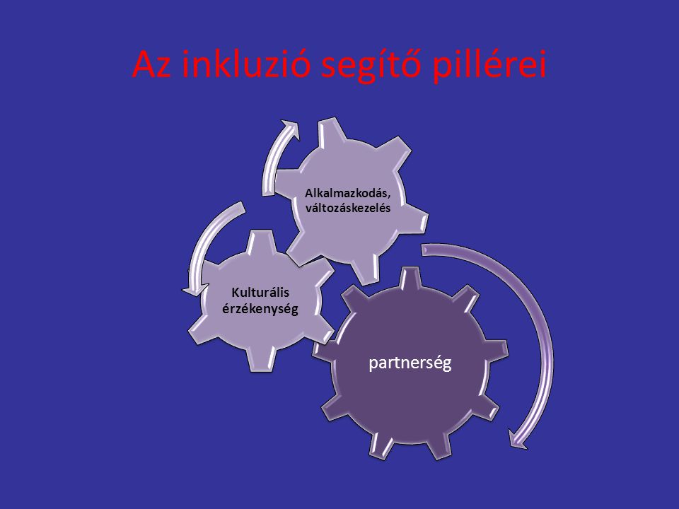 Az inkluzió segítő pillérei