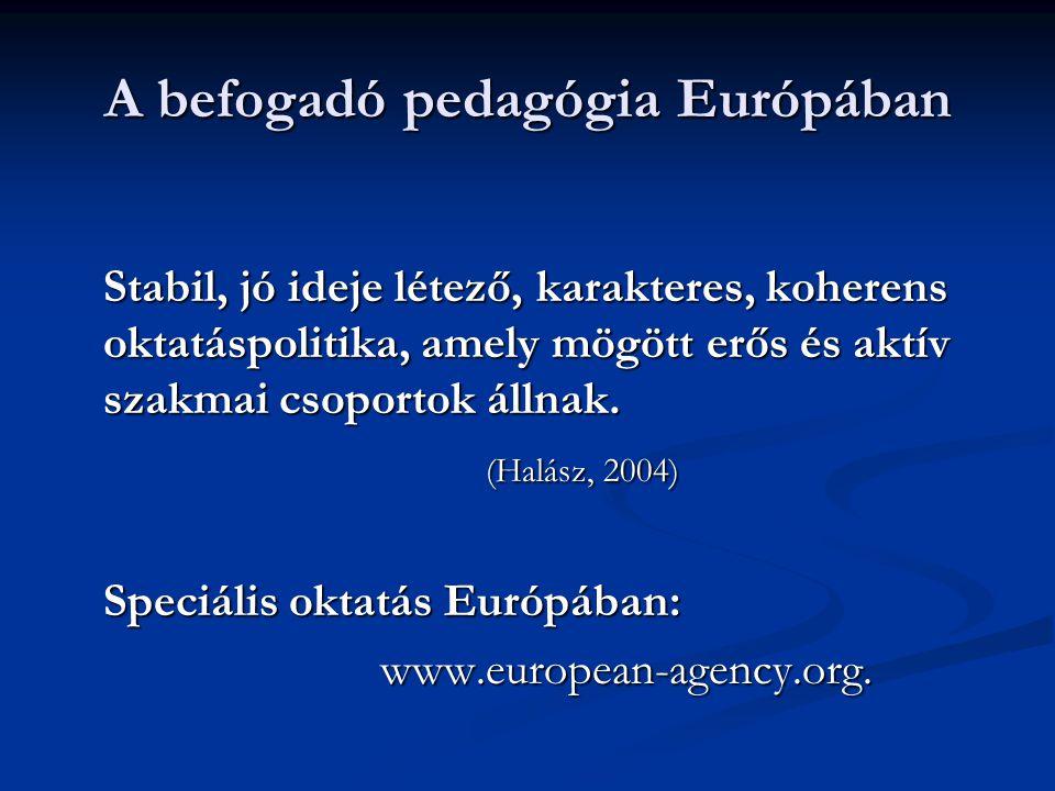 A befogadó pedagógia Európában