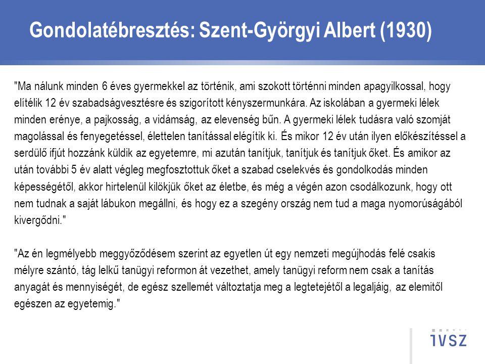 Gondolatébresztés: Szent-Györgyi Albert (1930)