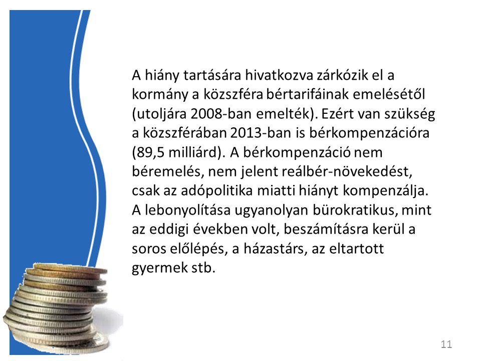 A hiány tartására hivatkozva zárkózik el a kormány a közszféra bértarifáinak emelésétől (utoljára 2008-ban emelték).