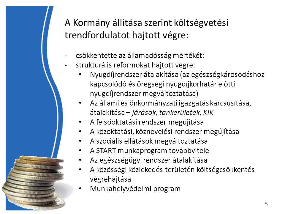 A Kormány állítása szerint költségvetési trendfordulatot hajtott végre: