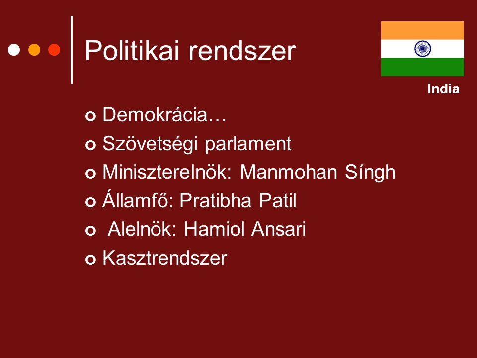 Politikai rendszer Demokrácia… Szövetségi parlament