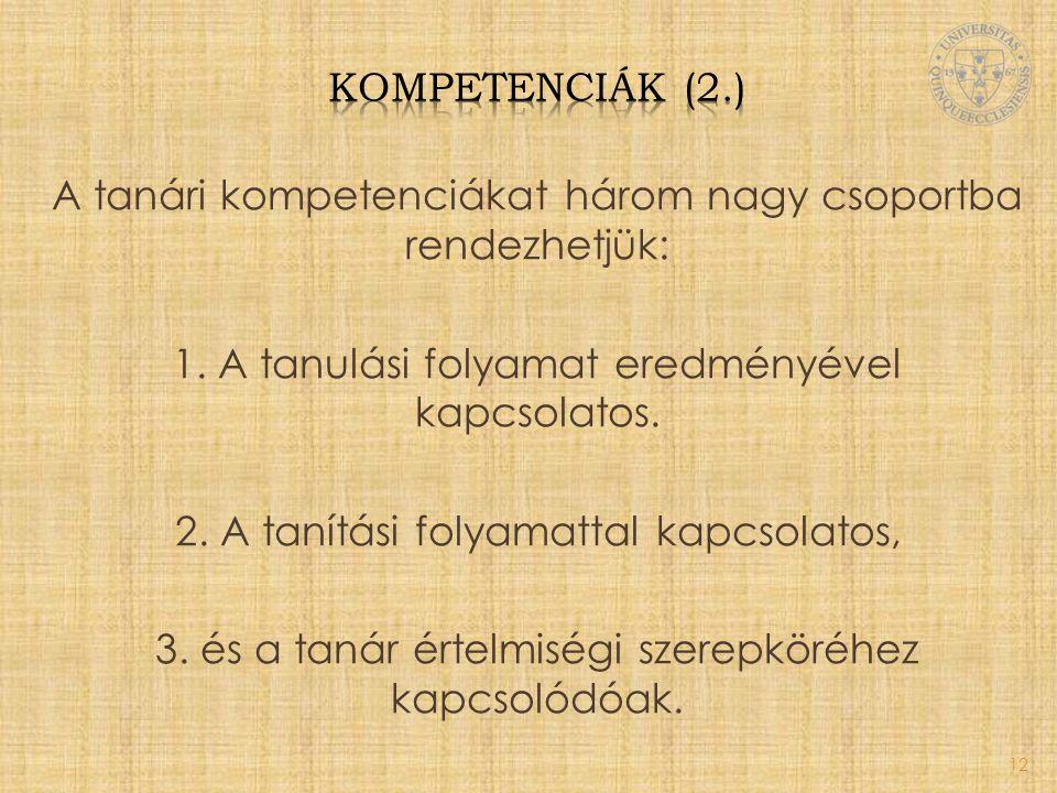 Kompetenciák (2.)