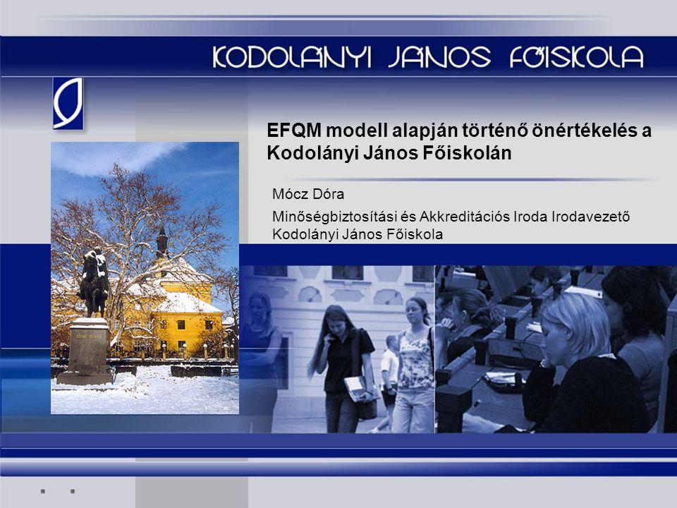 EFQM modell alapján történő önértékelés a Kodolányi János Főiskolán